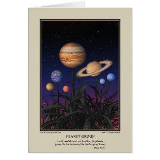 Cartão do grupo do planeta