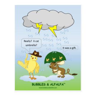 Cartão do guarda-chuva