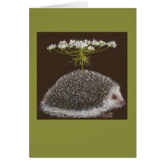 Cartão do guarda-chuva do ouriço