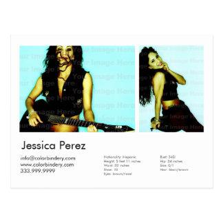 Cartão do Headshot do tiro do ator/modelo 2 Cartão Postal