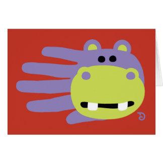 Cartão do hipopótamo