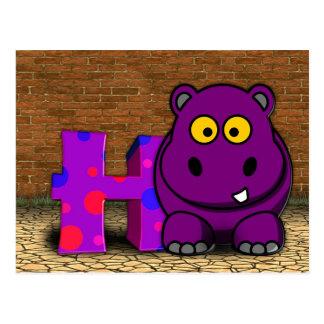 Cartão do hipopótamo da ilustração