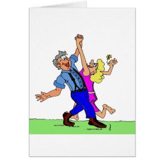 Cartão Do Hoe dançarinos quadrados para baixo