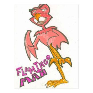 Cartão do homem do flamingo