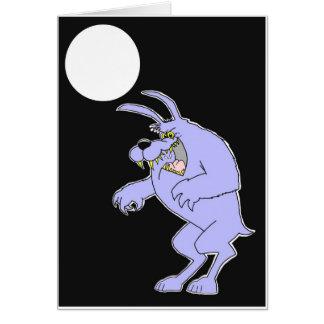 cartão do homem-lobo