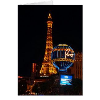 Cartão do hotel & do casino #2 de Paris Las Vegas