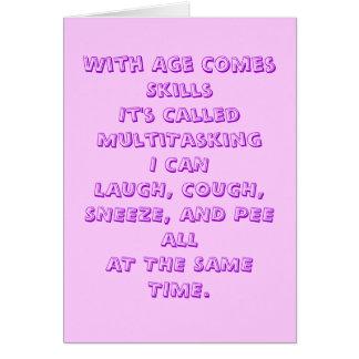 Cartão do humor da idade