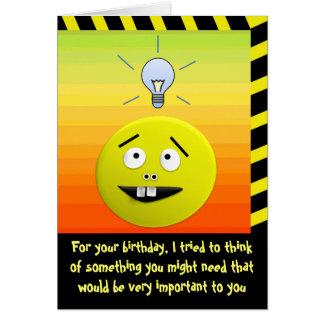 Cartão do humor da ideia do aniversário