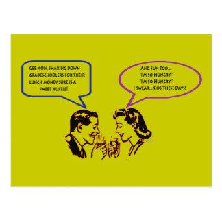 Cartão do humor da retirada do Shakedown da escola