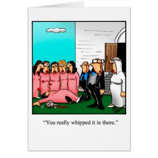 Cartão do humor das felicitações do casamento