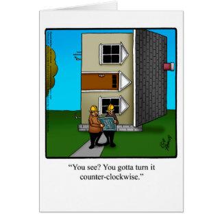 Cartão do humor do arquiteto