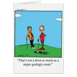Cartão do humor do jogador de golfe