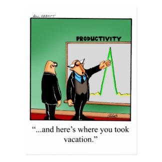 Cartão do humor do negócio engraçado