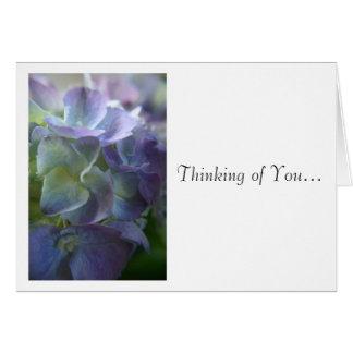 Cartão do Hydrangea