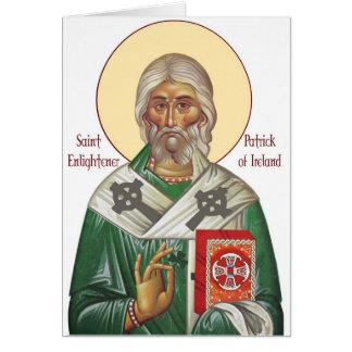 Cartão do ícone de St Patrick do vintage