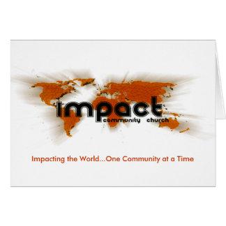 Cartão do impacto