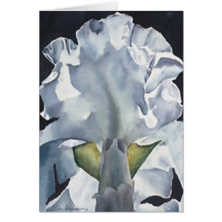 Cartão do impressão da íris da flor da aguarela