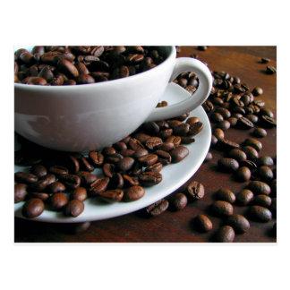 Cartão do impressão dos feijões de café