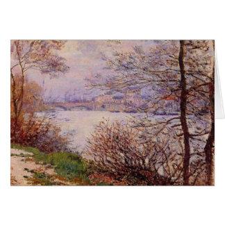 Cartão do impressionismo das belas artes de Seine