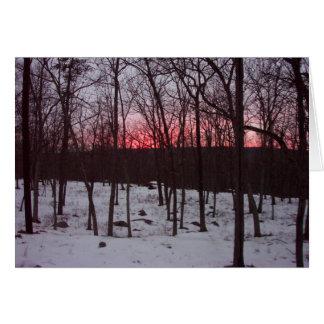Cartão do incentivo do nascer do sol