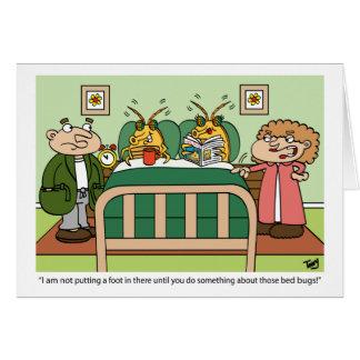 Cartão do inseto de cama