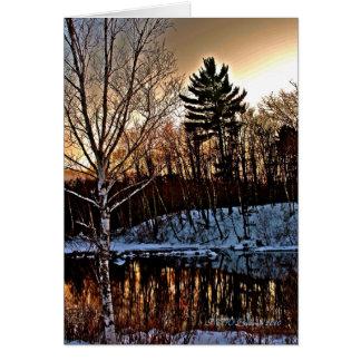 Cartão do inverno de Manitowish