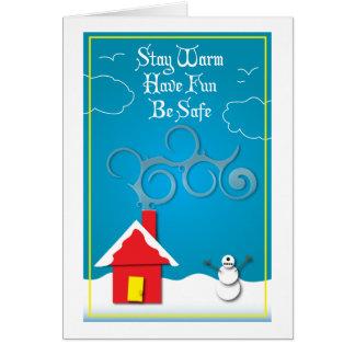 Cartão do inverno de Snowclops