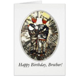 Cartão do irmão do feliz aniversario