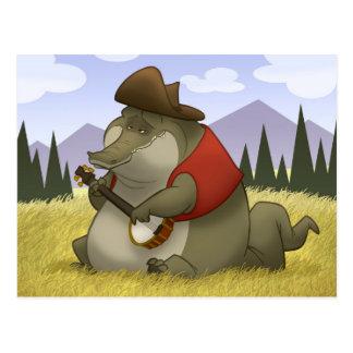 Cartão do jacaré do Banjo-Strummin'
