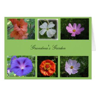 Cartão do jardim da avó
