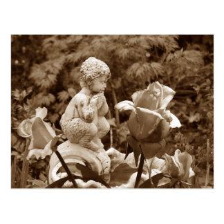Cartão do jardim da bandeja
