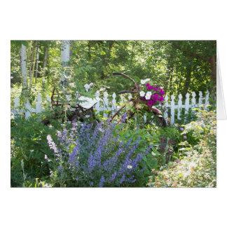 Cartão do jardim da bicicleta