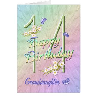 Cartão do jardim da borboleta do aniversário da