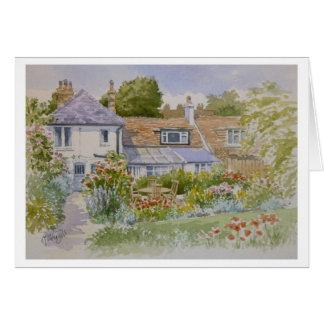 Cartão do jardim da casa de campo