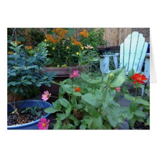 Cartão do jardim de Nancy