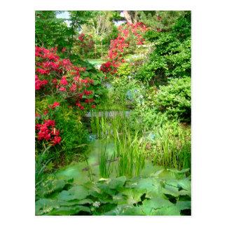 Cartão do jardim de RI