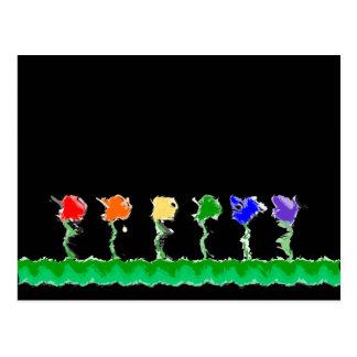 Cartão do jardim do arco-íris