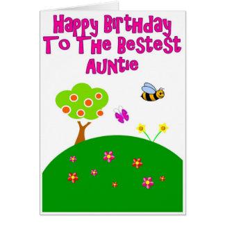 Cartão do jardim do Auntie feliz aniversario de