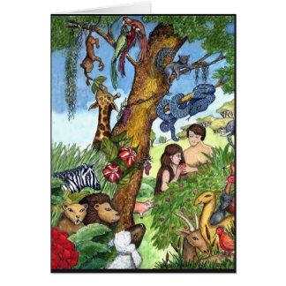 Cartão do Jardim do Éden