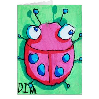 Cartão do joaninha de Dina