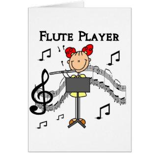Cartão do jogador de flauta
