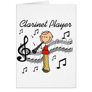 Cartão do jogador do clarinete