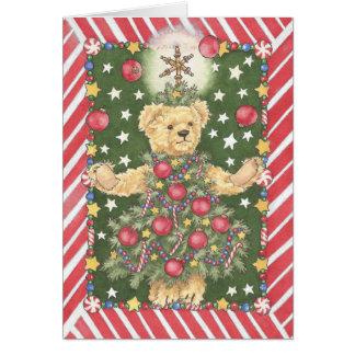 Cartão do Juggler do urso de ursinho da árvore de