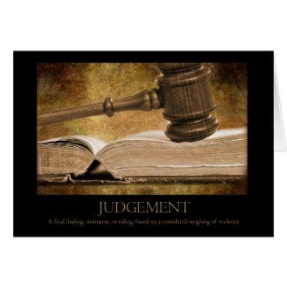 Cartão do julgamento