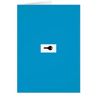 cartão do keyholder