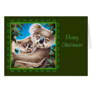 Cartão do Koala e de Natal do bebê