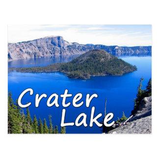 Cartão do lago crater