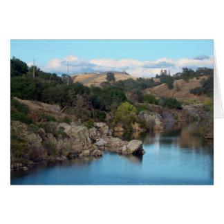Cartão do lago Folsom