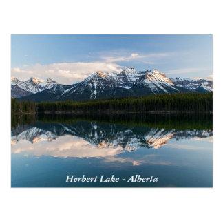 Cartão do lago Herbert, Alberta, Canadá