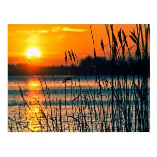 Cartão do lago sunset